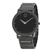Movado Sapphire Black Dial Black PVD Stainless Steel Mens...