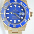 Ρολεξ (Rolex) Submariner Yellow Gold,Blue dial,Mint,Full Set