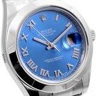 Rolex SS 41mm Datejust ll Blue Roman - Box & Papers 116334