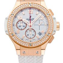 Hublot Big Bang 41mm Porto Cervo Diamonds 18K Rose Gold White...