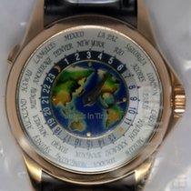 Patek Philippe World Time 18k Rose Gold & Cloisonne New...