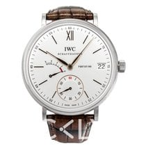 IWC Portofino Hand-Wound Eight Days White Steel/Leather - IW5101