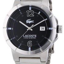 Lacoste Darwin Stainless Steel Mens Watch Black Dial Calendar...