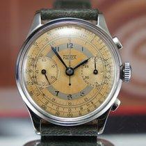 Hugex Valjoux 22 Oversize Chronograph Vintage Steel