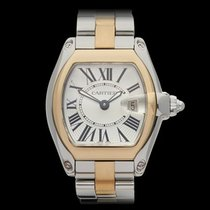 Cartier Roadster Stainless Steel & 18k Yellow Gold Ladies...