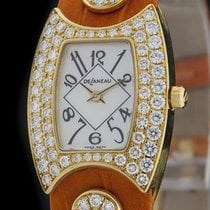 DeLaneau Yellow Gold FIRST LADY Diamond Watch