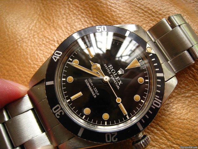 Rolex 6536/1 Perfect Mirror glossy Gilt dial submariner &amp;#39;57