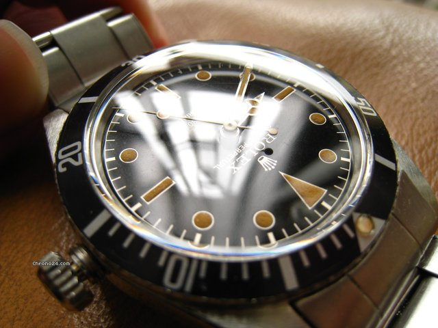 Rolex 6536/1 Perfect Mirror glossy Gilt dial submariner '57