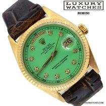 Rolex Day-Date 18038 President Stella green diamond Full Set 1981