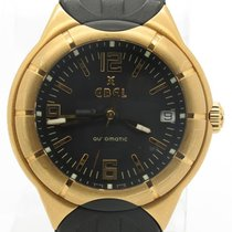 Ebel Type E Automatic Solid 18k Yellow Gold W/ Date On Rubber...