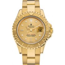 Rolex Yacht-Master 29 169628 Gold White Dial Yellow Gold...