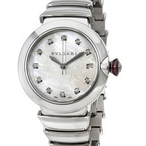 Bulgari Lucea Mother of Pearl Diamond Dial Stainless Steel