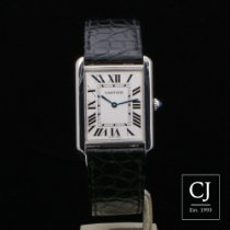 Cartier Tank Solo Stainless Steel Large Size Black Strap