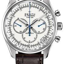 Zenith El Primero 36'000 VpH White Dial 42mm Watch with...