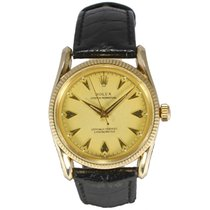 Rolex Oyster Perpetual 14ct Yellow Gold Bombe Case Genuine...