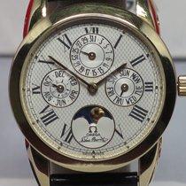Omega Vintage Louis Brandt 18K YR 1991 Perpetual Calendar 34mm