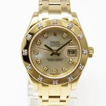 ロレックス (Rolex) Lady Datejust Pearlmaster Gelbgold Diamantbesatz...