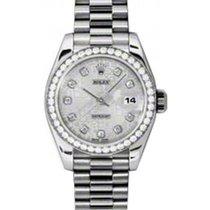 Rolex Lady-Datejust 26 179136-SLVJDP Silver Jubilee Diamond...