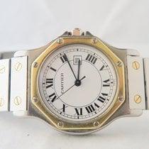 Cartier Octagon 18k Gold Steel Big Size New Lock/Box/Paper