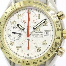 Omega Polished Omega Speedmaster Mark 40 18k Gold Steel Mens...