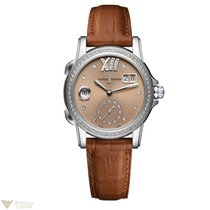 Ulysse Nardin Dual Time Diamonds Stainless Steel Women`s Watch