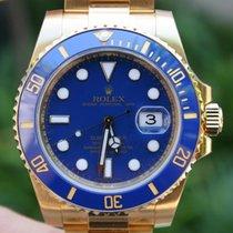 Rolex Submariner 18k Gold 116618 Ceramic Box And Warranty Card...