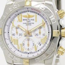 Breitling Polished Breitling Chronomat 44 18k Gold Steel...