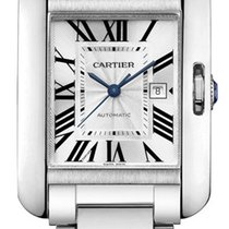 Cartier Tank Anglaise MEDIUM 18kt White Gold AUTHENTIC w5310024