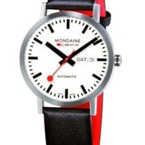 Mondaine Classic Automatic 40mm- Steel Case - White Dial -...