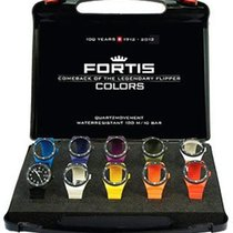 Fortis Colors Interchangeable Strap WatchSet - Black Dial -...