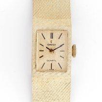 Omega Vintage Omega 14k Yellow Gold Ladies Quartz Watch on...