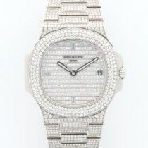 Patek Philippe Nautilus White Gold Full Diamond Ref. 5719/1G
