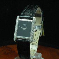 Chopard 18kt 750 Weißgold Handaufzug Damenuhr Mit Diamant...