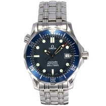Omega Seamaster Pro 300 Quartz Mid Size Blue Dial Stainless...
