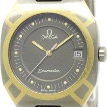 Omega Polished Omega Seamaster Polaris 18k Gold Titanium Mens...