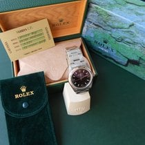 Rolex Boys Size - Oyster Perpetual - White Gold Bezel - Like New