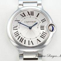 Cartier BALLON BLEU MEDIUM 36 mm EDELSTAHL Damenuhr W69011Z4...