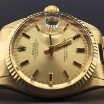 Rolex Datejust Midsize 31mm 14k Yellow Gold Champagne Stick...