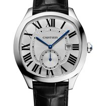 Cartier WSNM0004 Drive de Cartier in Steel - on Black Alligato...