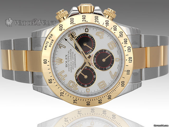 Rolex Daytona Oyster Cosmograph Chronograph 116523 - Fresh New Spitfire aka Panda Dial - Tutone Stainless Steel/18k Yellow Gold - Brand New Factory Applied Protective Stickers