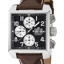 Fortis Square Chronograph Stahl Automatik 38x38mm