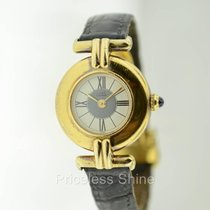 Cartier Vermeil Quartz 925 Sterling Silver Gold Plated Lady Watch