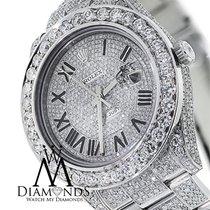 Rolex Luxury Mens Rolex Diamond Watch Datejust Ii 41mm Full...
