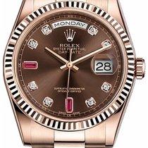 Rolex Unworn 118235chodrp Mens Rose Gold Day Date President in...