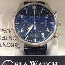 IWC Pilot Watch Black Dial Chronograph Automatic Mens