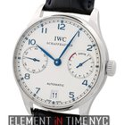 IWC Portuguese 7 Days Stainless Steel Silver Dial Blue...