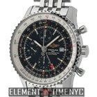 Breitling Navitimer World Stainless Steel Black Dial 46mm...