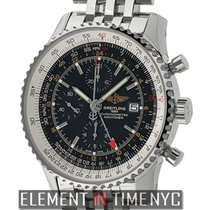 Breitling Navitimer World Stainless Steel Black Dial 46mm...