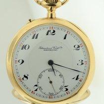 IWC Schaffhausen Solid 14k Yellow Gold Vintage Mechanical...