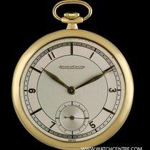 예거 르쿨트르 (Jaeger-LeCoultre) 18k Yellow Gold Silver Dial Pocket...